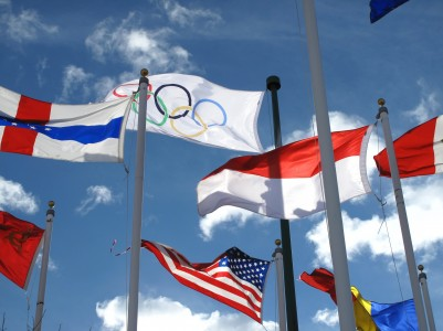 Track and Field History - Olympic flag